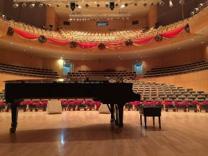 stage and piano